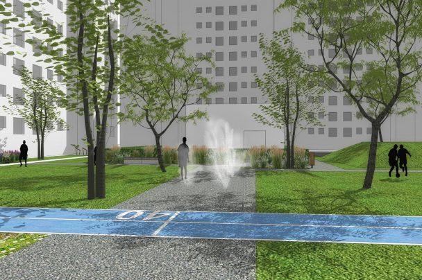 Rekonstrukcia vnutrobloku v Trnave